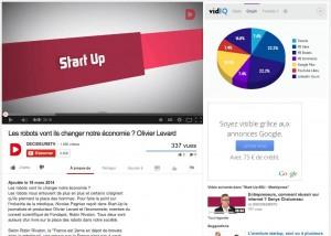 Partages sociaux Youtube avec Vidiq
