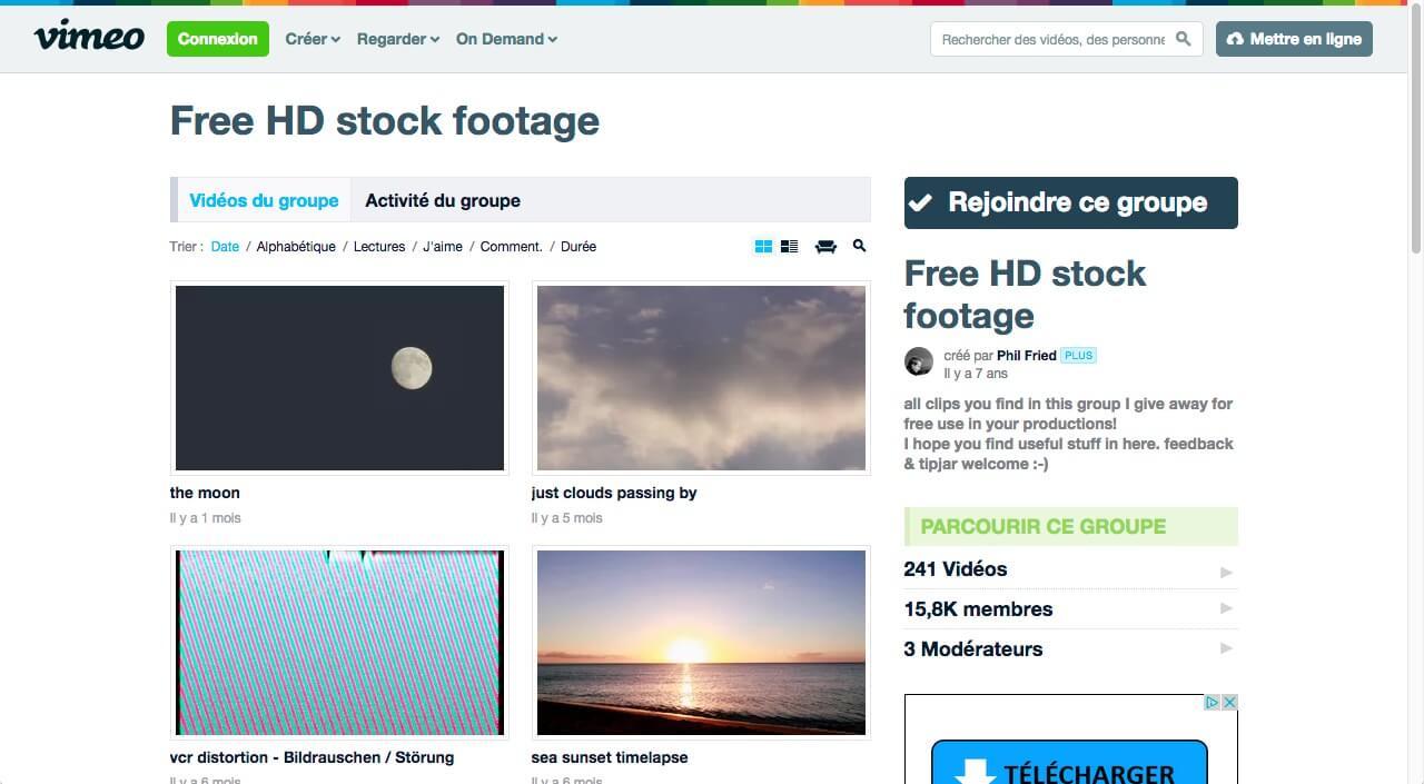 Vimeo vidéos gratuites
