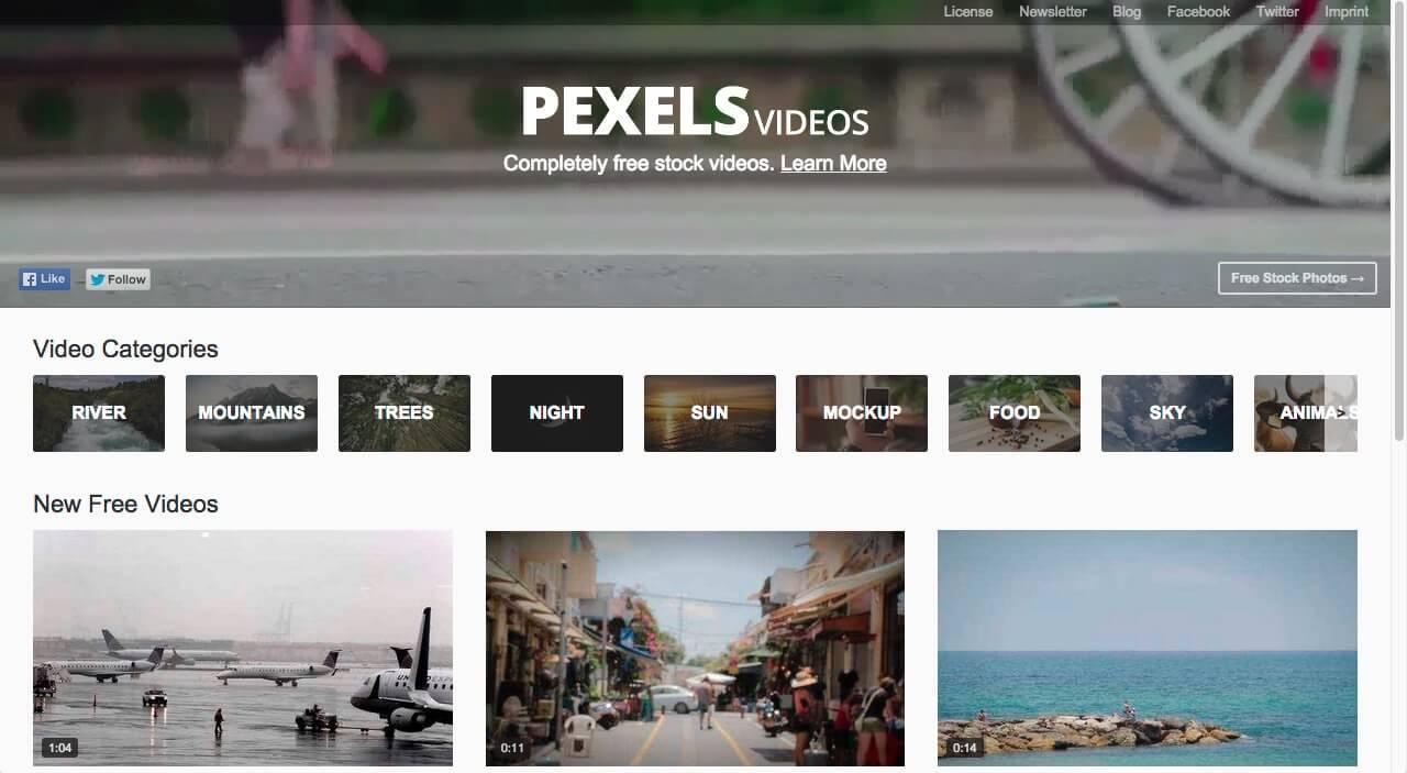Pexels Vidéos gratuites